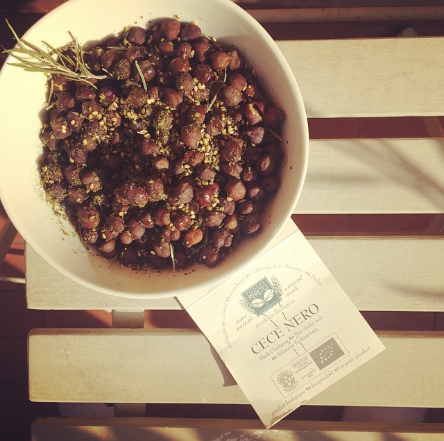 Garbanzo beans appetizer